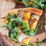 Grilled Peach Pizzas {with Arugula and Balsamic Glaze}