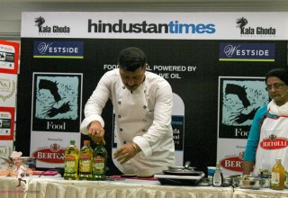 Chef Gautam Mehrishi Cooking With Bertolli Olive Oil