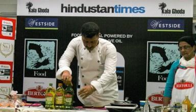 Chef Gautam Mehrishi Cooking With Bertolli Olive Oil