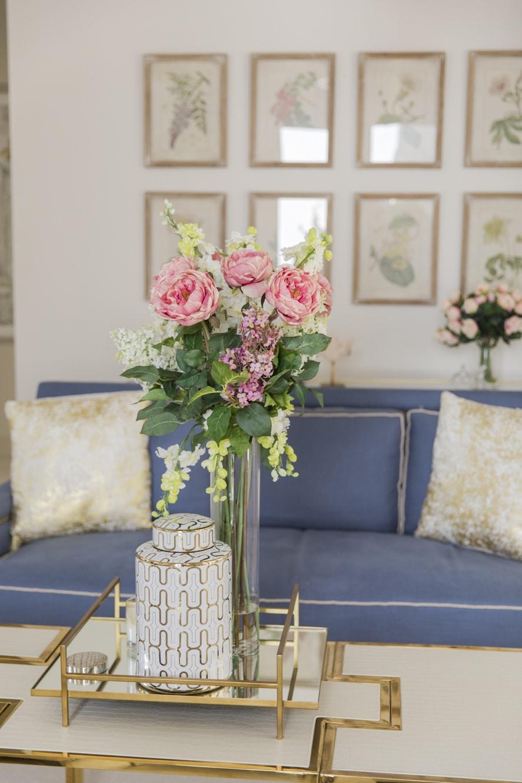 Living Room Spring Updates Fashionable Hostess