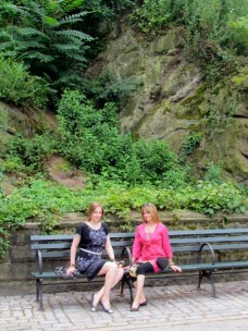 Jean and carmen on bench