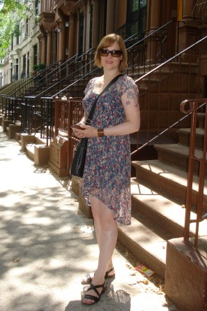 Jean wore a high low summer dress