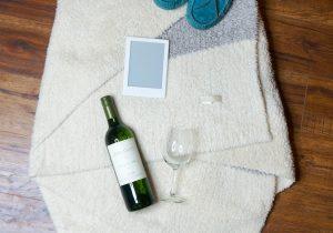 Binge Reading and wine