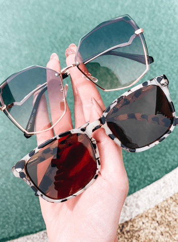 Top 6 Amazon Sunglasses for Women featured by top Pittsburgh fashion blogger, Fashionably Late Mom