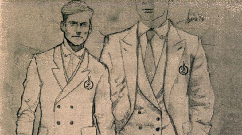 Details of the archery uniform.