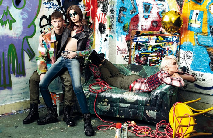 Gabriel Marques, Simon James, Joseph Dolce, Tony, Ashley, Bre by Danielle Levitt, styling by Diesel's Nicola Formichetti