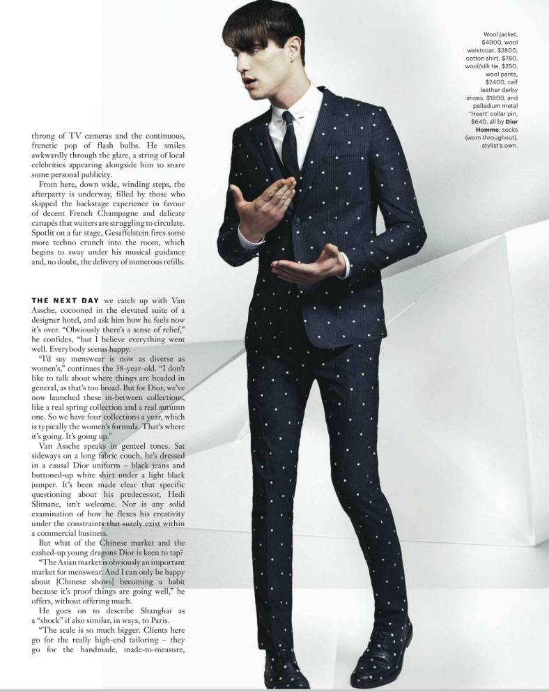 GQ Australia September / October 2014 'HOW DIOR HOMME HIT SHANGHAI' Ph: David Slijper Styling: Wayne Gross