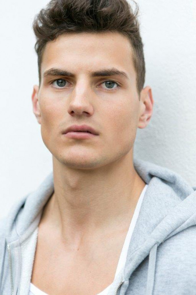 Gorgeous British firefighter-turned-model Jack Holland gets a digital update coming from his agency 'PRM'.