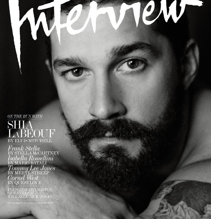 """As it turns out, Shia LaBeouf isn't a full-on insane person -- he's just what happens when that annoyingly pretentious guy that you hated/dated in college gets famous. In a surprisingly earnest -- but no less maddening -- conversation with Interview magazine, the troubling actor hits all of the """"White Guy Who Majored in [Humanities/Liberal Arts]"""" milestones. Smoking a cigarette, shirtless, Shia LaBeouf rattles off his Troubled White Guy Antiheroes that he looks up to, including Sean Penn, actual crazy guy Mel Gibson, and fellow pseudo-performance artist Joaquin Phoenix. LaBeouf also mentions and explains all the iterations of modernism that he has at one point subscribed to (post-, meta-), name-checks his existential crisis and subsequent coming to God, and discusses """"tripping on drugs"""" and finding himself as he struggles to become an adult. The method actor also talks about how reading about performance art totally changed his life, for better or worse, and blames the avant-garde poet Kenneth Goldsmith for his penchant for plagiarizing -- or as he would call it, """"uncreative writing."""""""