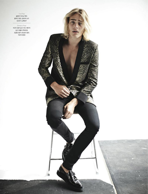Top Model Ton Heukels starring the latest fashion issue for GQ KOREA captured by Mokena Jung.