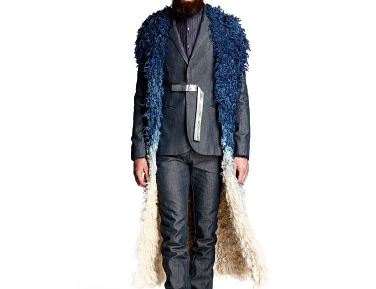 Designer: Jonathan Christopher Collection: NOMADUM | Global Denim Awards Fabrics: ITV Denim Model: Thomas van Ouwekerk @ Tony Jones Model Management Photographer: Martijn Senders Stylist: Juan Velazquez Caceres Grooming: Chris Volkers