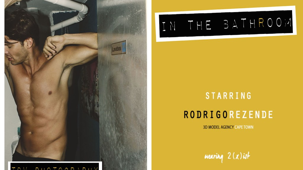"""Excited to present for the very first time this sexy hot story entitled """"In The Bathroom"""" an exclusive for Fashionably Male starring the sensual male model Rodrigo Rezende at 3D model Agency Cape Town shot by TDV Photography in Madrid, Spain. Rodrigo exposed without no shame at all, looking how gorgeous and sexy could he be. And he got it all, TDV shooting the right moves."""