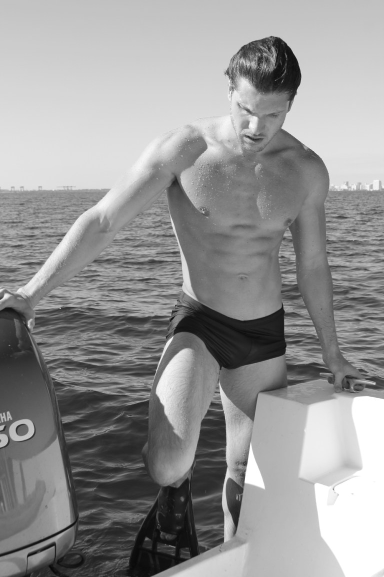 """Striking portrait series by photographer Michael Del Buono featuring gorgeous adonis up-and-comer, Alexei Reyes shooting in a yacht at Miami. Alexei is a beautiful Cuban model 6'1.5"""" represented by MP Mega Miami."""