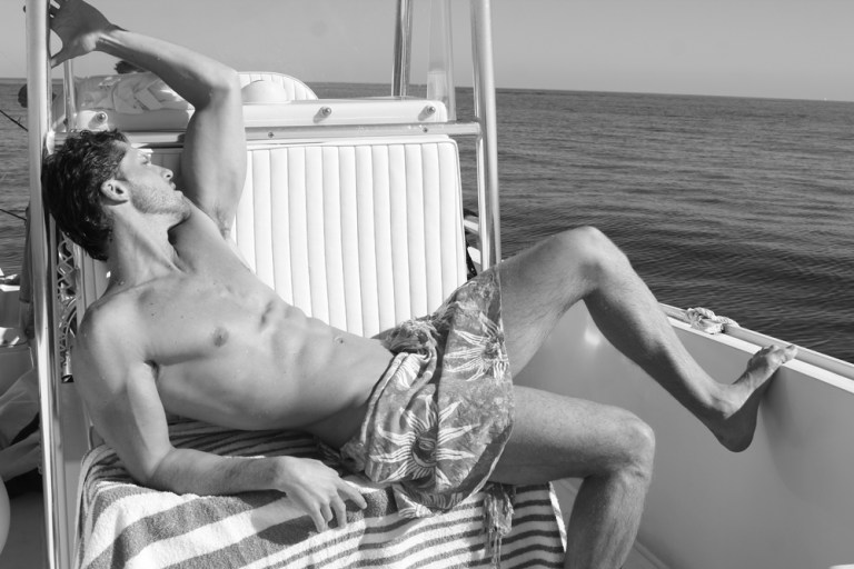 "Striking portrait series by photographer Michael Del Buono featuring gorgeous adonis up-and-comer, Alexei Reyes shooting in a yacht at Miami. Alexei is a beautiful Cuban model 6'1.5"" represented by MP Mega Miami."