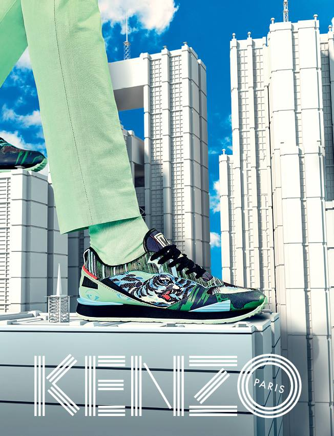 Still as eccentric as ever, Parisian label KENZO here rolls out its campaign imagery for Spring/Summer 2015. The relationship between the brand and Italian creative collective TOILETPAPER continues to churn out imaginative, distinct work, imagining a utopian city setting for KENZO's range of clean staples. The collection appears less busy than previous releases, highlighting harmonious tonal blue color combinations on knits and pairing coordinated pastels on button-ups. Featuring models Mona Matsuoka – who modeled the collection on the runway last year – and Qing He, enjoy these fantastic images from KENZO in the accompanying gallery.
