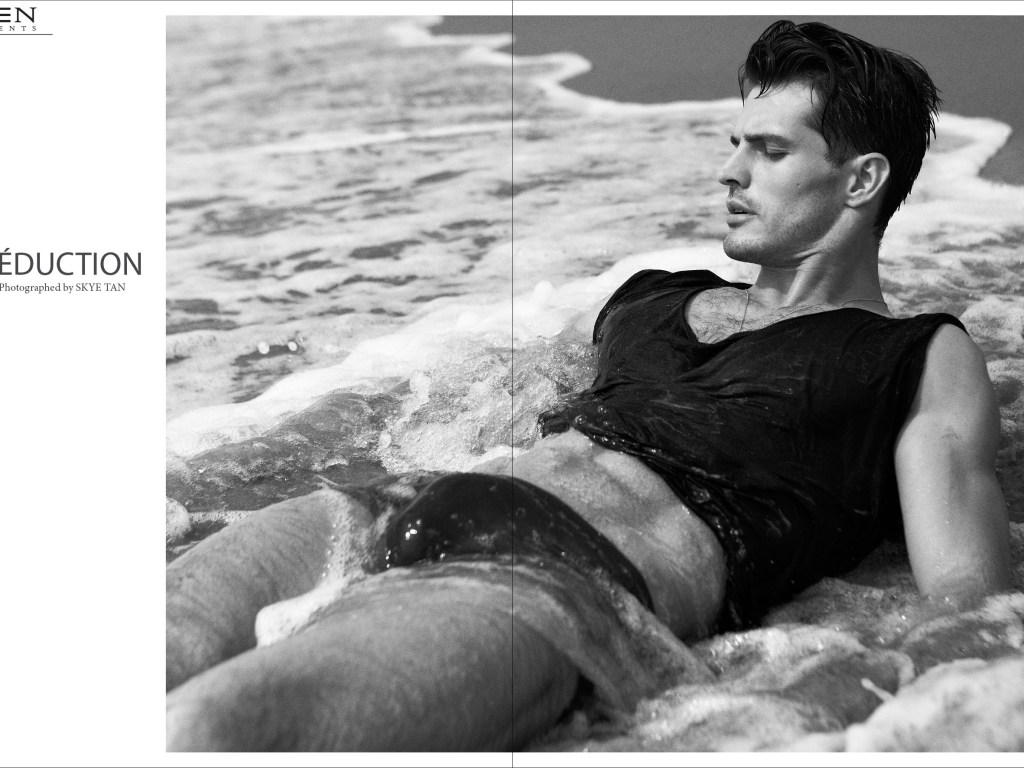 "Brazilian sensation Top Model Diego Miguel starred ""Seduction"" shot by Skye Tan in 2014 for Men Moments Magazine."