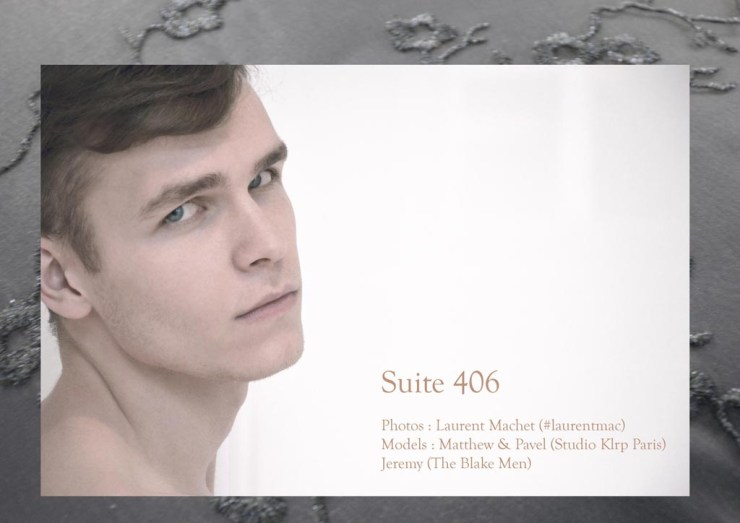 Studs young men on suite #406 by Laurent Machet for The Blake Magazine with models Matthew and Pavel at Studio Klrp Paris and Jeremy (The Blake Men)