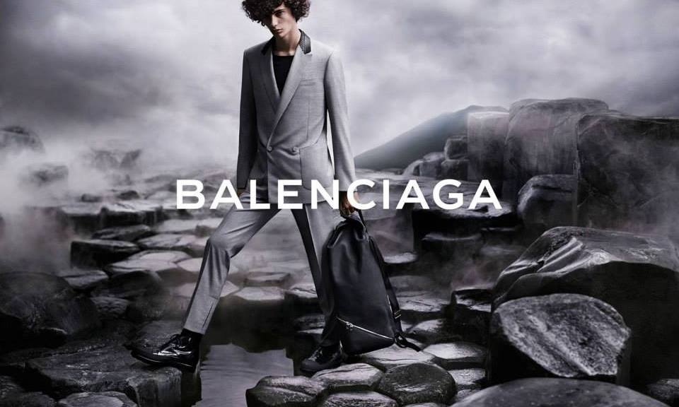 Top Model Piero Mendez fronts the new 2015 campaign for Balenciaga.