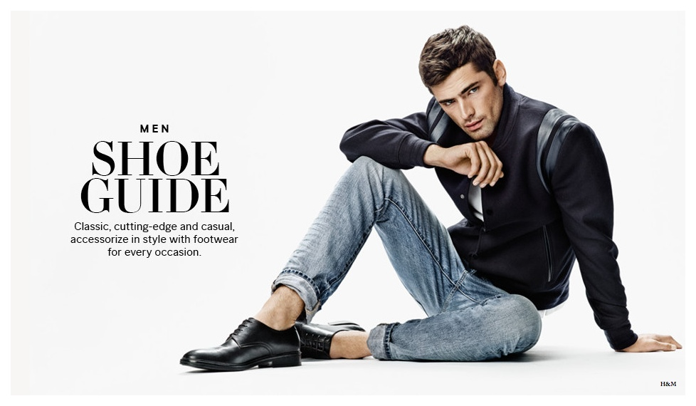 After connecting with H&M for a sporty take on new arrivals, American model Sean O'Pry is back in the spotlight, this time fronting a guide to shoes. Showcasing versatile footwear styles, H&M rounds up a mix of casual and formal shoes to complete the perfect wardrobe.