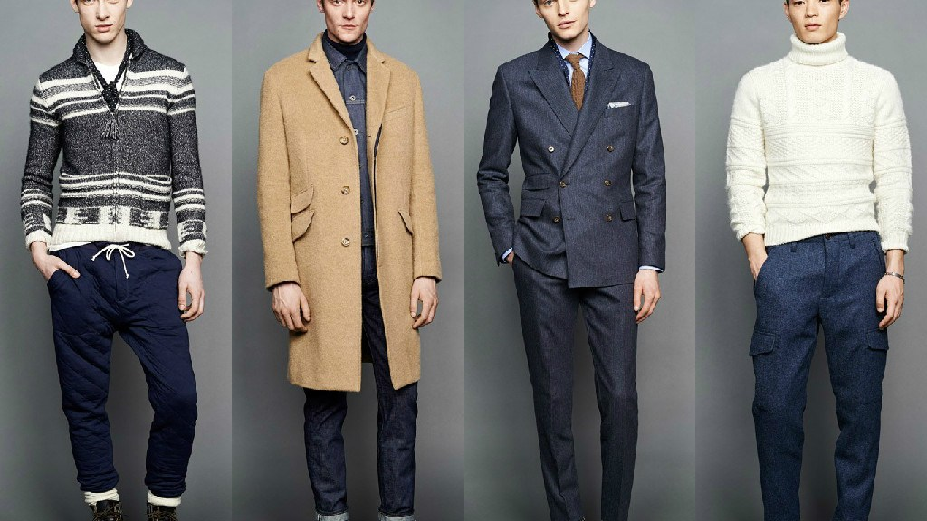 """For men, Frank Muytjens' trip to a vintage Army/Navy show in the south of England made a reappearance in the retailer's fall offerings. From a color palette heavy on green and khaki to the military details on the A-line, drop-shoulder topcoats, the J. Crew men's design director """"intertwined"""" this feeling throughout the lineup. Standout pieces included thick wool cargoes in a slim fit with an articulated knee, and a snorkel coat that Muytjens tweaked to make its proportion more oversize."""