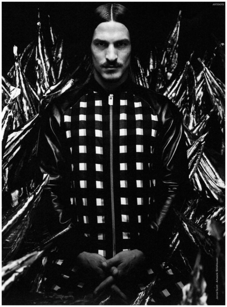 Known for its themed issues dedicated to the work of one photographer, Antidote teams up with photographer Daniel Sannwald for its latest issue. Following a digital theme, after a Sean O'Pry cover, Sannwald connects with top Australian model Jarrod Scott. An eclectic collection of images showcases Jarrod exposed, going shirtless and modeling chic spring sportswear.