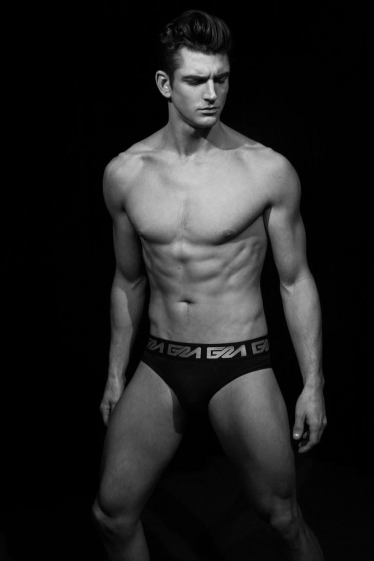 Boston Native Peter Ward, graces Fashionably Male with a provacative and intimate exclusive right after walking the runway last week for Asaf Ganot's NYFW SS15 show in New York City. Ward's popularity is growing and quickly becoming a favorite among many designers including Malan Breton. We've noticed Peter sports Garcon Model underwear on set and has been spotted backstage at Fashion Week during wardrobe changes, wearing his favorite black and white pairs. Peter Ward is currently signed to ADAM Models and lives in New York City.