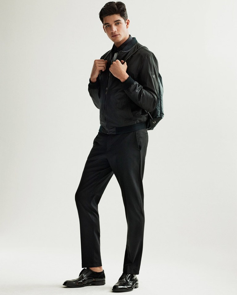 Tarik Lakehal fronts the Spring/Summer 2015 lookbook of Versace Collection, combining formal styling and fashion appeal.