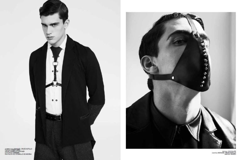 Xavier Serrano photographed by Sebastian Troncoso in the latest issue of Avenue Illustrated Spain Magazine.