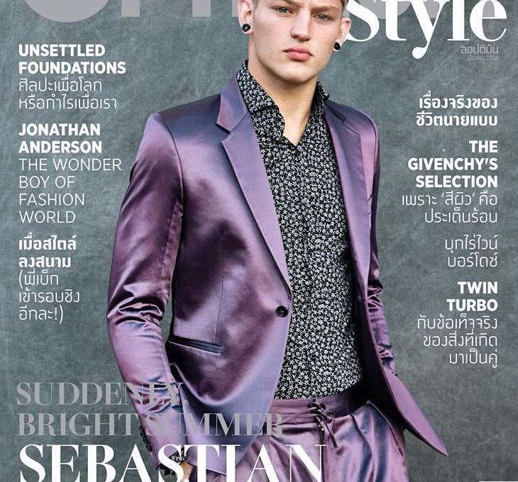 Sebastian Sauve shot by Kal Griffig and outfitted by Jimi Urquiaga, for the latest issue of L'Optimum Thailand.