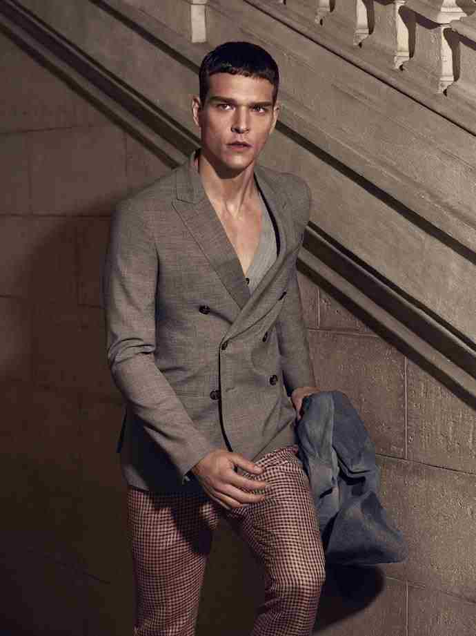 GQ Russia April 2015 modeling Brazilian sensation Alexandre Cunha in all superbed photography by Adriano Russo and choosing the right casual garments by Fashion Stylist Vadim Galaganov.