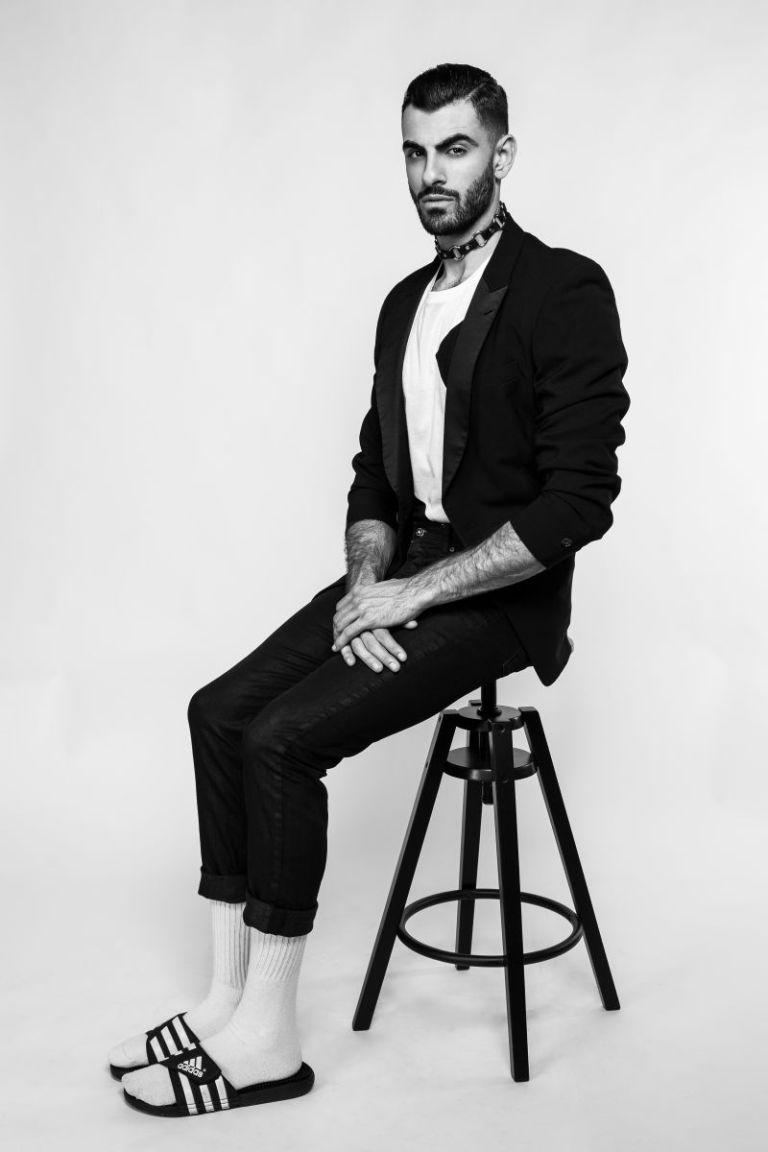 Here's Alex Garibyan of Next Models Los Angeles shot by Travis H. Lane, styled by Brandon Nicholas.