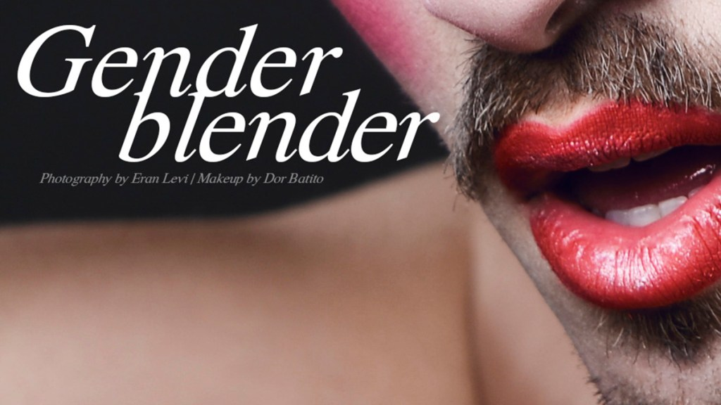 "We are very pleased to present this amazing work of Eran Levi exposing ""Gender Blender"" a contrast between this sexy manly men and drag make up, impulsing gender identity and sexuality,its basically shot for Purim, the Jewish Halloween celebrating this March 4th and 5th. This is a blast, original stunning work."
