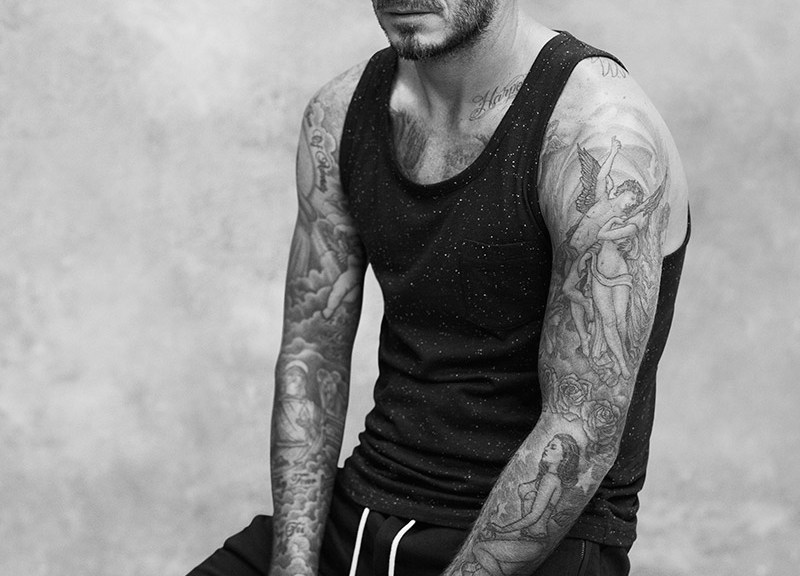 David Beckham created a new bodywear Spring/Summer 2015 collection for H&M, that includes the perfect loungewear pieces: Henleys, raglan-sleeved shirts, crewnecks and a jersey vest. The collection is centred around navy blue, grey melange and broken white, with accents of orange red. Stripes appear as either trims or across whole garments to add a new classic twist. The collection is supported by a brand new print campaign, featuring David wearing selected looks from the David Beckham Bodywear collection, exclusively available at H&M stores and online worldwide on March 5.