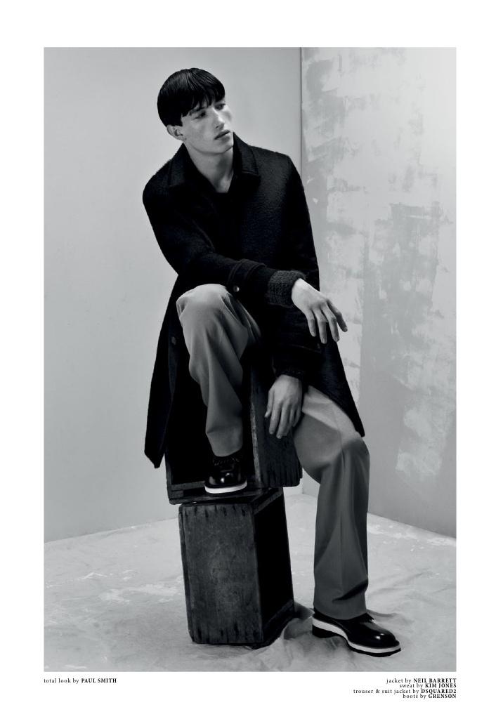 Client Magazine Jester Photographer: Damien Fry. Stylist: Chris Benns. Grooming: Liam Curran.