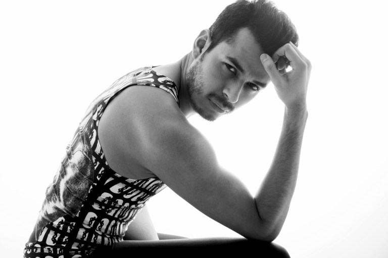 """Mexican style expert and queer blogger Jorge Gallegos aka """"manchic"""" features some of his favorite pieces from collection. From skin-tight leggings that are very much alike to the fetish outfits worn by Tom's characters plus a lightweight mesh tank top with a full-length print of Tom's art. The alluring pictorial was taken by photographer Margaret Rowland.   I include a few images from the pictorial below with the full editorial on www.iammanchic.com  Credits:   Fashion - Rufskin @rufskin  Photos - Margaret Rowland @margaretrownlandphoto Model/Creative Director - Jorge Gallegos @manchic"""