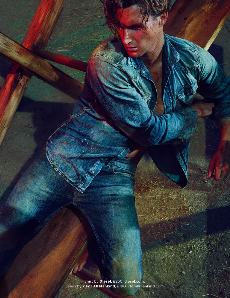GQ UK April 2015 & Blue Photographer: Hunter & Gatti. Stylist: Jo Levin. Hair: Paco.  Makeup: Jo Baker.
