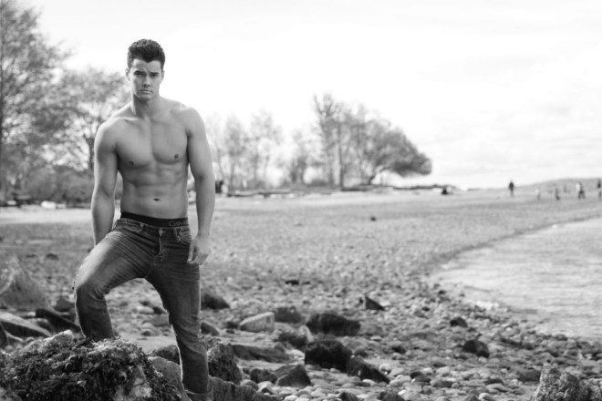 Fresh new comer we have the beauty handsome male model Devon Kell shot by James Thor.