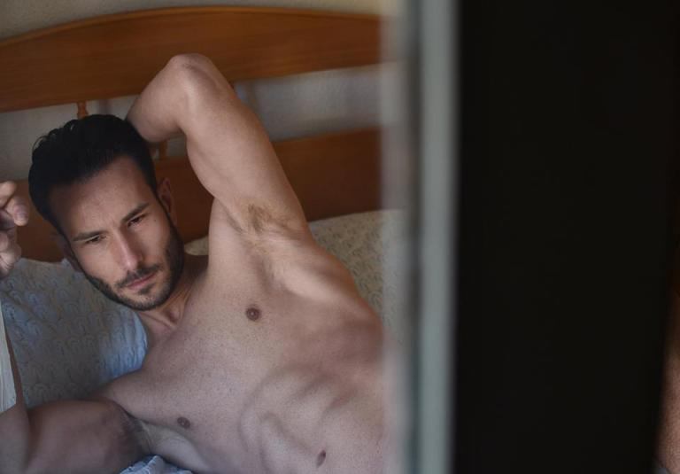 Spanish provocateur Diego Martinez Sanchez is posing for the lens of Ashary // Arte Digital, sexually and no shame of his fit body he reflects pure sensualism all over the room.