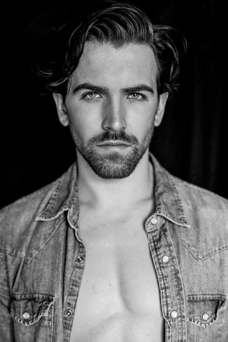 In an exclusive for Fashionably Male, he is a new face in the market and recently moved from London UK Andrew McNeil a very talented model at Toronto, posing for a updated portfolio shot by talented and beloved friend Juan Neira.