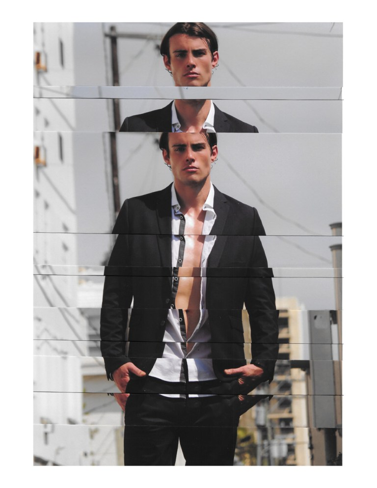 Exclusive for Fashionably Male we have the really beautiful artwork collage by ByMaxwell a Mixed Media Artist Maxwell N. Burnstein with the stunning Miami based photographer Rubén de Peña.