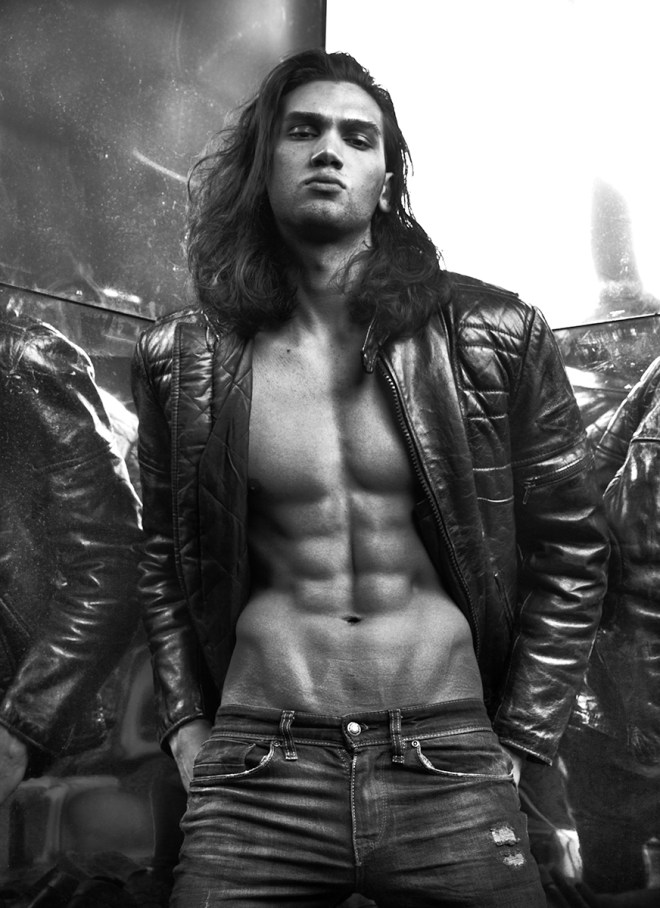 Sexy male model Chand Smith signed at MIKAs Stockholm Beatrice Models Two Management and Red NYC is photographed by Rasmus Wallin.