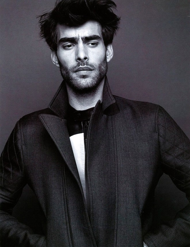 Jon Kortajarena captured by the lens of Lawrence Thomas and outfitted by Dean Hau, for the Spring/Summer 2015 coverstory of Seventh Man magazine.