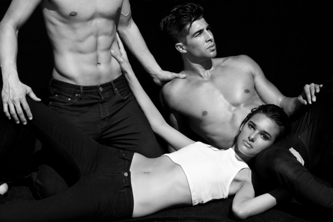 Models Drew Hudson at Wilhelmina, Alex Ciappara at Click and Jenny Albright at New York Models under control by talented lensman Karl Simone. Clothes provided by All Saints.