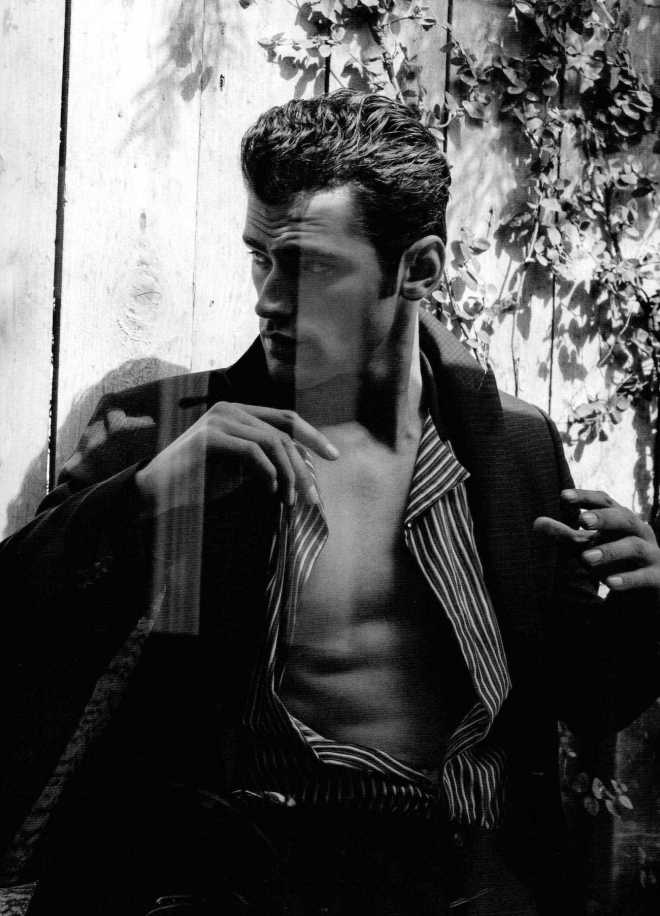 Top model Sean O'Pry covers and starring new editorial for DSection Magazine Issue #13 shot by Doug Inglish, styled in luxury garments by styled by Nicolas Klam
