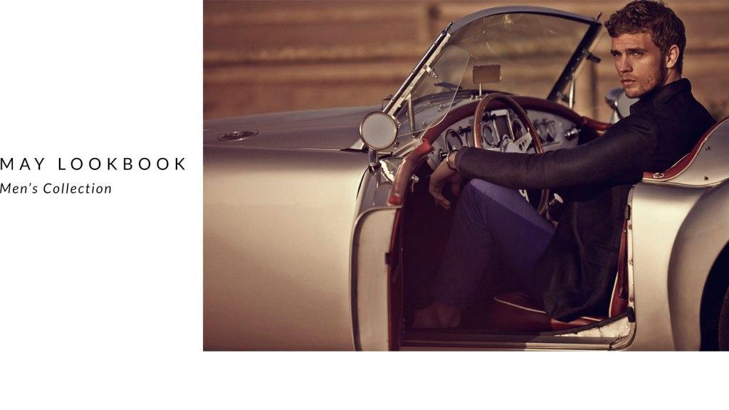Top models Garrett Neff and Benjamin Eidem leading the new Massimo Dutti Men May 2015 Lookbook.