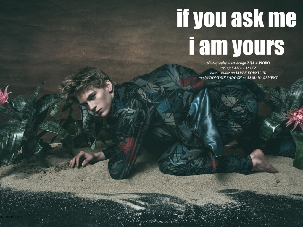"""""""If you ask me I am yours"""" in the new CHASSEUR Magazine issue #10 LOVE ALONE starring by Dominik Sadoch at A S Management, photography by Zija + Pioro, Styling by Kasia Laszcz."""
