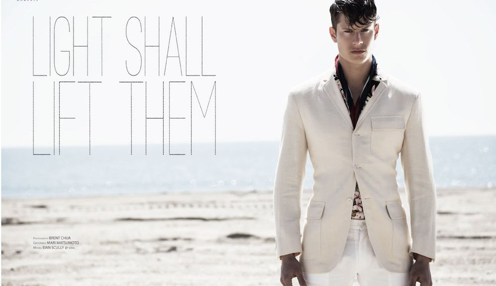 """""""Light Shall Lift Them"""" photography by Brent Chua, styled by Mari Matsumoto and spotlight Soul Artist Model Eian Scully."""