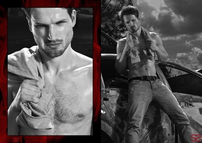 Photos by Luca Di Fazio for Starssystem magazine starring male model David Koch