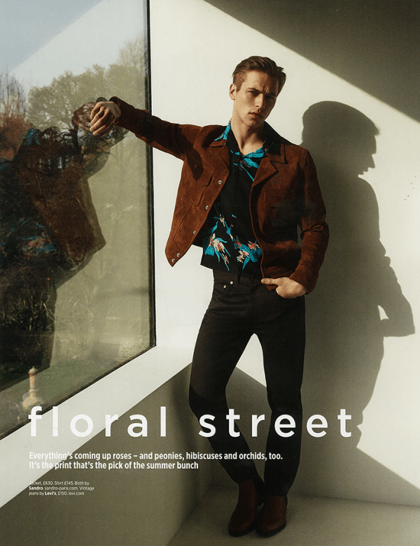 Jules Raynal is in British GQ'S Fashion Forward – and on the cover! Shot by Frederico Martins and styled by Mark McMahon.