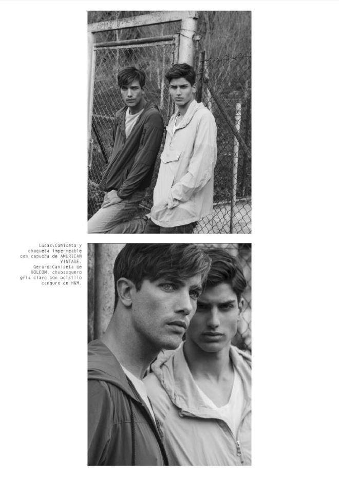"""""""Swap Guys"""" is the story captured by Alejandro Brito for Risbel Magazine, styled by Mar Muñoz, models are Gerard Sabé at View Management BCN, Sam Steele at Elite BCN, Joan Pedrola, Lucas Marcos and Biel Juste at Sight Management BCN."""